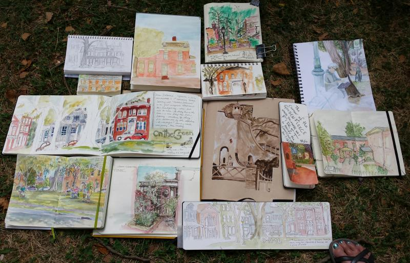 Sketchbooks at Dover, DE