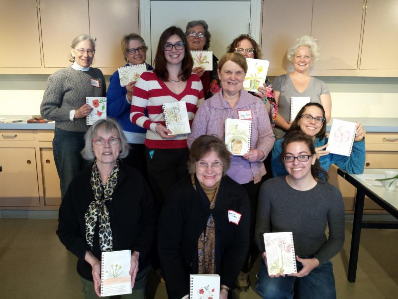 Group shot at Longwood Gardens Nature Journaling Workshop