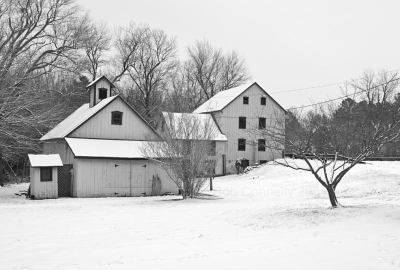 Abbotts Mill in Snow