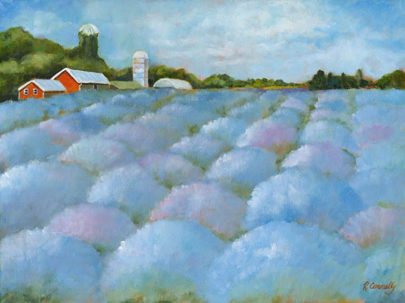 Lavender Fields acrylic painting