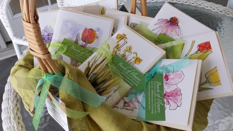 Basket of Flower Cards